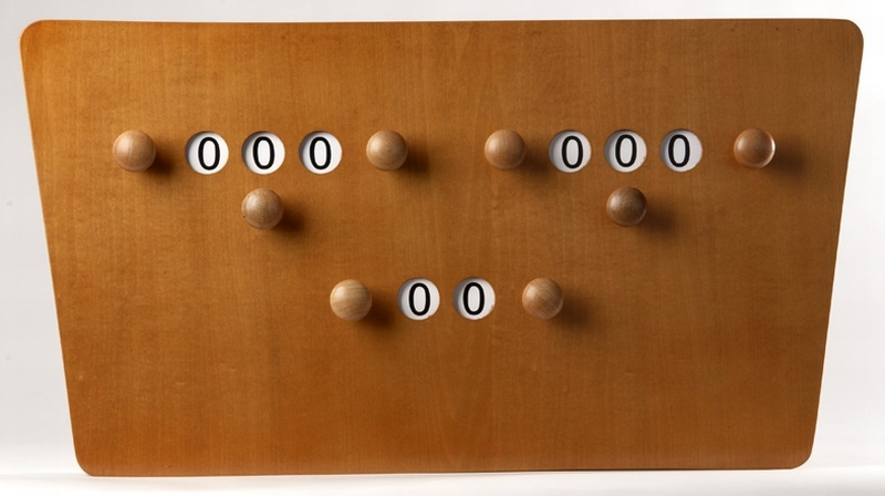 Biljart scorebord model vlinder - Decoratie biljart ...
